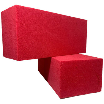 Red Fresh Floral Foam Bricks - 12 Pieces