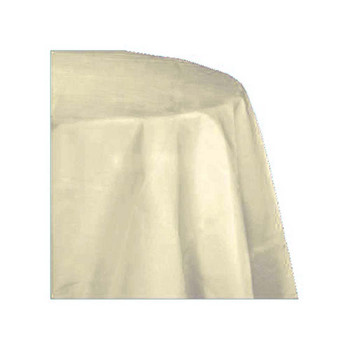 "120"" Ivory Round Polyester Table Cover"