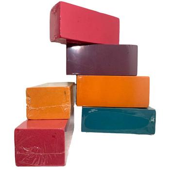 Assorted Color Fresh Floral Foam Bricks - 12 Pieces