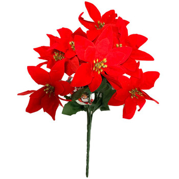 Red Poinsettia Bunch