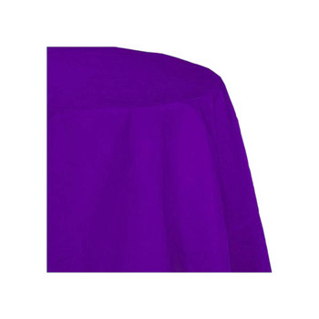 "120"" Purple Round Polyester Table Cover"