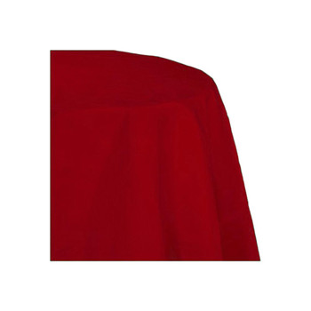 "120"" Red Round Polyester Table Cover"