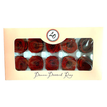 Red Preserved Roses - 3-4cm - 10 Pack