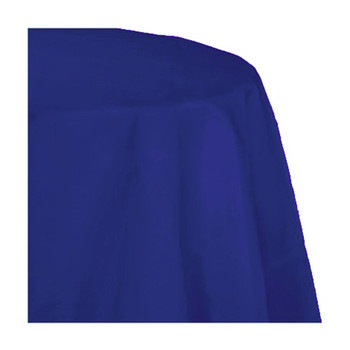 "120"" Royal Blue Round Polyester Table Cover"