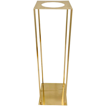"31.5"" Gold Pedestal Column with Round Opening"