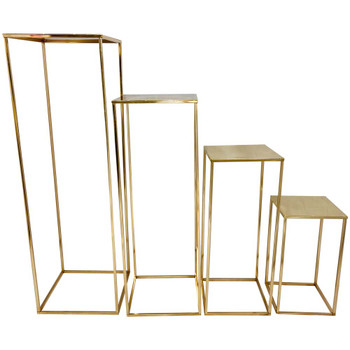 """39.5"""" Gold Pedestal Column Set of 4"""