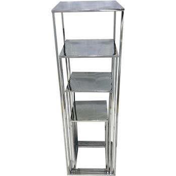 "39.5"" Silver Pedestal Column Set of 4"