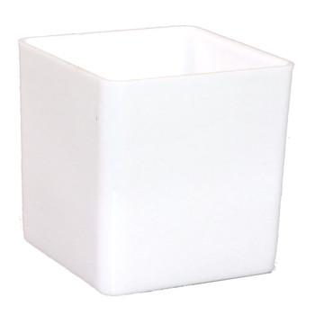 """4"""" White Acrylic Square Vase"""