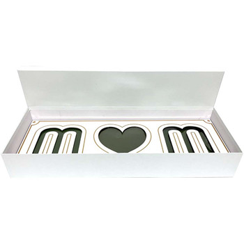 White and Gold Mom Deep Love Floral Gift Box with Fresh Foam