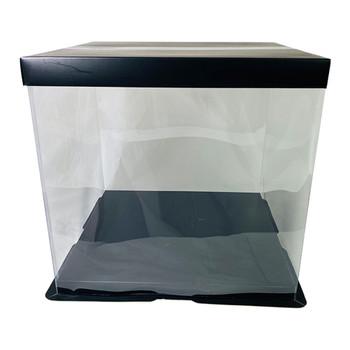"12"" Acrylic Square Display Box - Black"