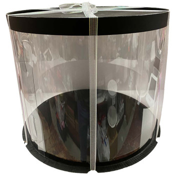 "12"" Acrylic Round Display Box - Black"