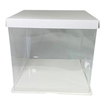 "9.75"" Acrylic Square Display Box - White"