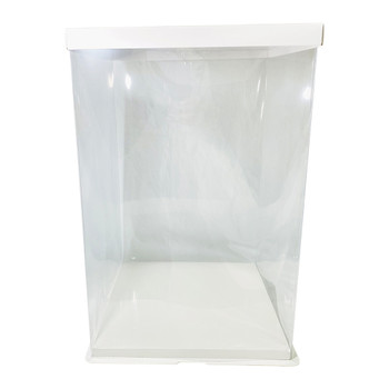 "18.75"" Tall Acrylic Square Display Box - White"