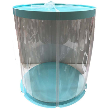 "14"" Tall Acrylic Round Display Box - Blue"