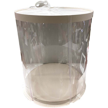 "14"" Tall Acrylic Round Display Box - White"