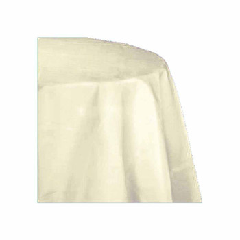 "90"" Ivory Round Polyester Table Cover"
