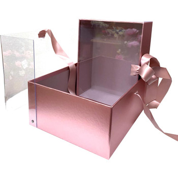 "9.5"" Luxury Berry & Flower Box - Rose Gold"