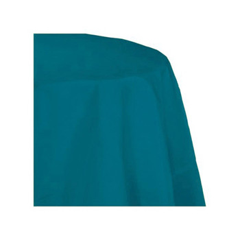 "90"" Turquoise Round Polyester Table Cover"