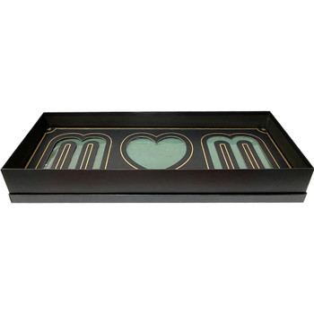 Black and Gold Mom Deep Love Floral Gift Box with Fresh Foam