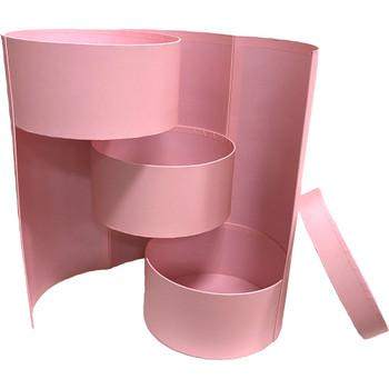 "8.5"" Triple Level Folding Box - Pink"