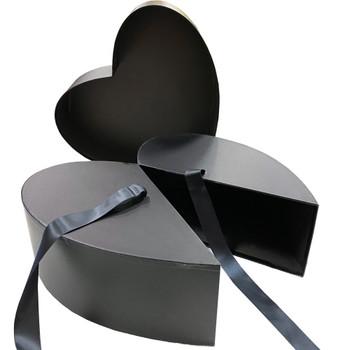 "13"" Surprise Nested Heart - Black"
