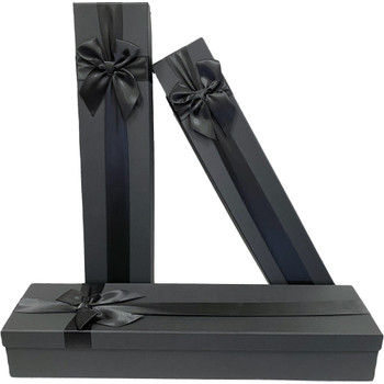 "18.75"" Black Tall Decorative Floral Box - Set of 3"