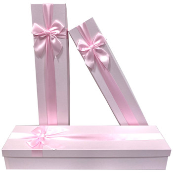 """18.75"""" Pink Tall Decorative Floral Box - Set of 3"""