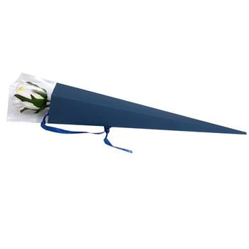 """25"""" Blue Single Stem Floral Cone -10 Pieces"""