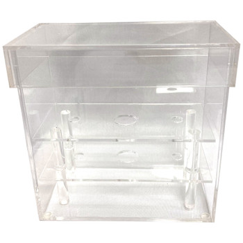"6"" Clear Acrylic Rectangular Flower Box"