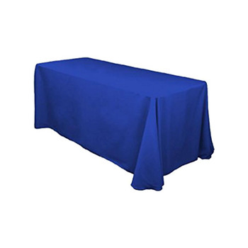 "90"" x 156"" Royal Blue Rectangular Polyester Table Cover"