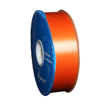 "1 7/16"" Orange Flora-Satin Ribbon"