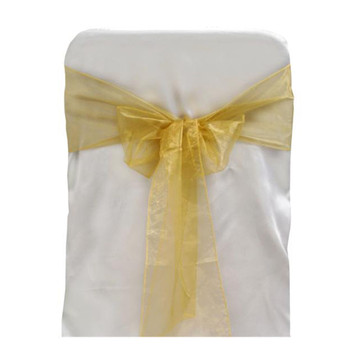 Gold Organza Chair Bow 6pcs