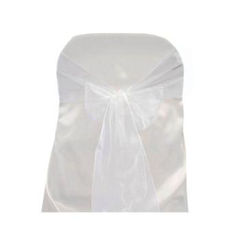 White Organza Chair Bow 6 Pcs