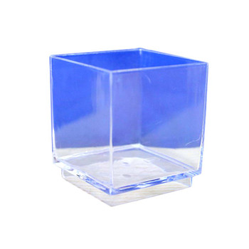 "Clear 1.75"" Dessert Cube 12PCS/Pack"