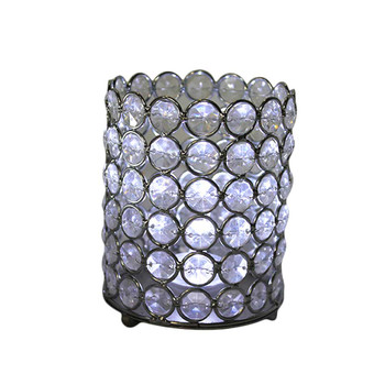 "5"" Beaded Cylinder Candle Holder"