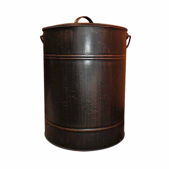 Large Rusty Black Canister