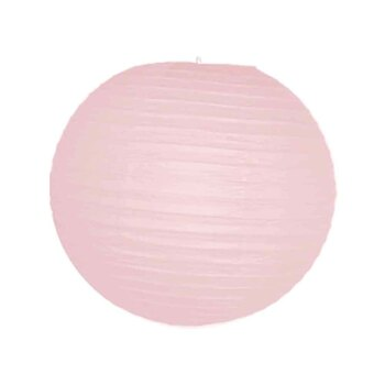 "10"" Pink Round Paper Lantern"