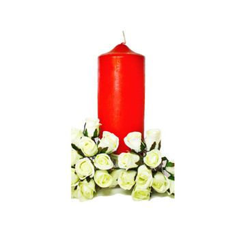 "3"" x 8"" Red Pillar Candle"