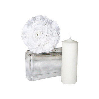 "3"" x 8"" White Pillar Candle"