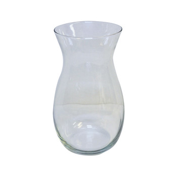 "10.5""H Clear Jordan Glass Vase"