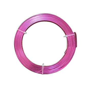 5 MM Gauge Dark Pink Flat Decorative Wire 32.8 Ft