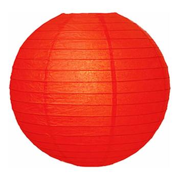 """16"""" Red Round Paper Lantern"""