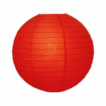 """18"""" Red Round Paper Lantern"""
