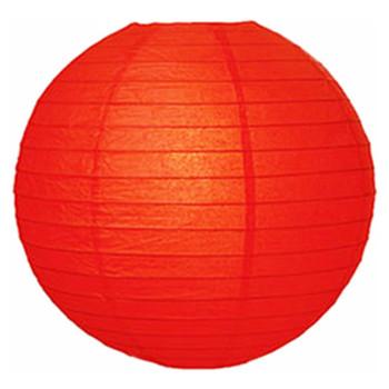 """8"""" Red Round Paper Lantern"""