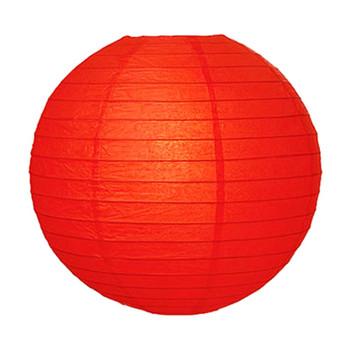 """20"""" Red Round Paper Lantern"""