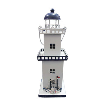 "13"" Metal Lighthouse"