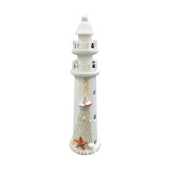 "19"" White Lighthouse"