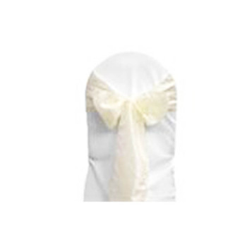 Ivory Satin Chair Bow 10pcs