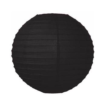 """20"""" Black Round Paper Lantern"""
