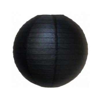 """10"""" Black Round Paper Lantern"""